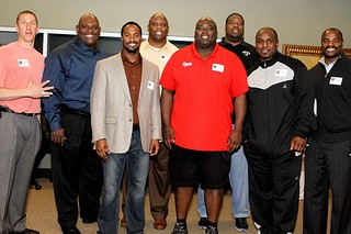 Former NFL players at Charlotte Super Food Bowl 2013
