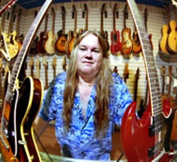 RADOK - Fret Over This: Chip Coleman with an array of vintage - guitars at Coleman Music