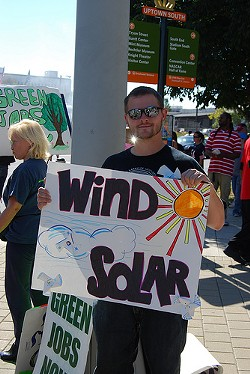 From a Duke Energy protest in October 2010. (Photo credit: Heidi Cabiness of 350.org)