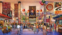 "©RYAN COMPANIES - From concept to reality: explore Charlotte's ""Global Marketplace"" at Actor's Theatre."