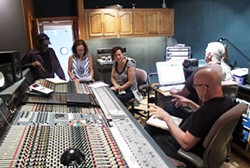 DANIEL COSTON - From left, Rick Blackwell, Beth Chorneau, Shana Blake, Don Dixon and Mark Williams at Reflection Sound Studios