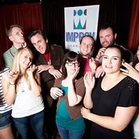 From left, Tina Siadak, Aaron Strauch, Ali Fischer, Cale Evans, Jennifer Jamsky, Sam Hatch, Blake Edwards, Glynnis O'Donoghue, Erin Fede