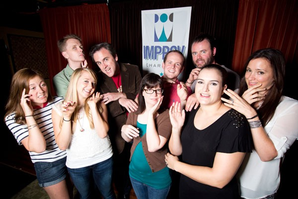 From left, Tina Siadak, Aaron Strauch, Ali Fischer, Cale Evans, Jennifer Jamsky, Sam Hatch, Blake Edwards, Glynnis O'Donoghue, Erin Fede - MERT JONES