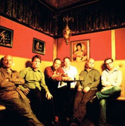 DANNY CLINCH - Galactic have found a niche on the jam-band circuit; - saxophonist Ben Ellman is on the far left