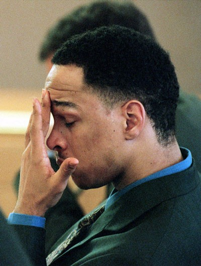 GAME OVER: Rae Carruth during his trial in 2000  - REUTERS/NEWSCOM
