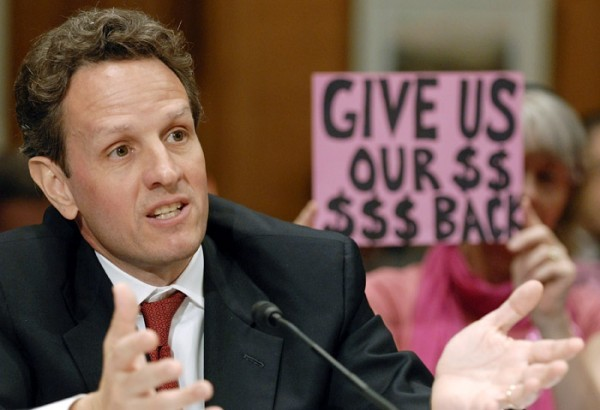 Geithner before Congress, with fan behind him