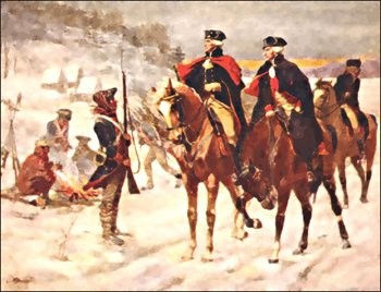 Gen. George Washington and Major-Gen. de Lafayette at Valley Forge