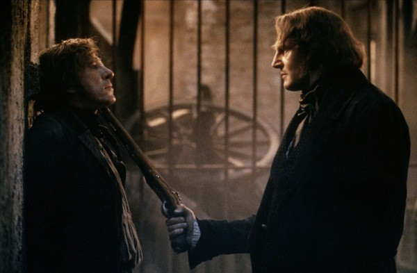 Geoffrey Rush and Liam Neeson in Les Miserables (Photo: Sony)