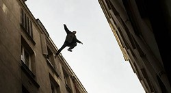 MAGNOLIA PICTURES - Gilles Lellouche takes a flying leap in Point Blank.