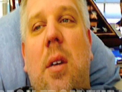 Glenn Beck's not too feeling too good about running with a woman