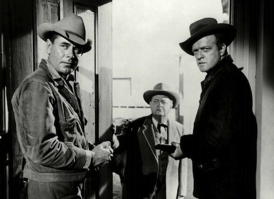 Glenn Ford, Robert Emhardt and Van Heflin in 3:10 to Yuma (Photo: Criterion)