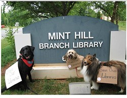 LINDA FOWLER - GONE TO THE DOGS: Therapy dogs picket at Mint Hill Library