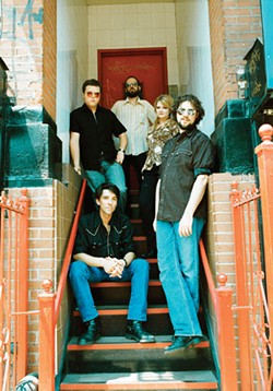 DANNY CLINCH - Grandmasters of Gangstabilly: the Drive-By Truckers are on cruise control (Hood at right; Isbell, top left)
