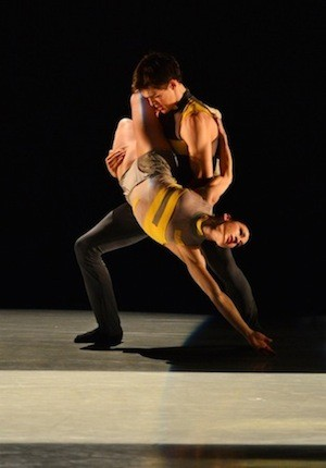 Greg Taylor and Emily Ramirez in Dwight Rhodens Gateways. Photo by Peter Zay.