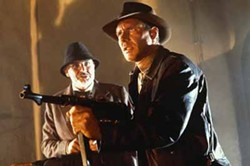 PARAMOUNT PICTURES - GUNNING FOR TROUBLE: Sean Connery and Harrison Ford in Indiana Jones and the Last Crusade.