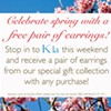 Shop at K-La, get free earrings