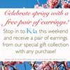 Shop at K-La, get free earrings