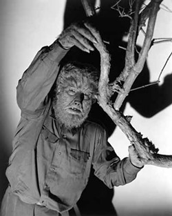 UNIVERSAL - HAIRY SITUATION: Lon Chaney Jr. in a publicity shot for The Wolf Man.
