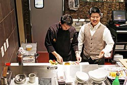 ASHLEY GOODWIN - HANDS ON EXPERIENCE: Cy Santos (left) and Ro Lawsin, owners of Cyros Sushi and Sake Bar