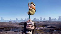 DISNEY/PIXAR - HANGING AROUND ALL SEASON: Russell and Carl Fredricksen in Up, the summer's best movie.