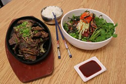 CATALINA KULCZAR - Hard to find Korean dishes: Bul go gi and Hwe dup bob.