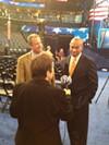 Harrington interviewing Mass. Gov. Deval Patrick.