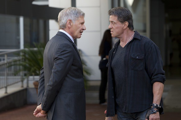 Harrison Ford and Sylvester Stallone in The Expendables 3 (Photo: Lionsgate)