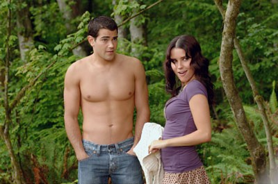 HEAD MAN'S CHEST Basketball captain John Tucker (Jesse Metcalfe) bares his bod rather than his soul to Beth (Sophia Bush) in John Tucker Must Die