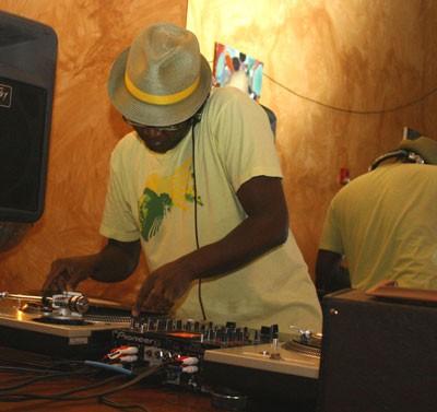 HEY DJ: Michael Kitchen of The Sol Kitchen spins at Pop Life. - KATIE WILLIAMS