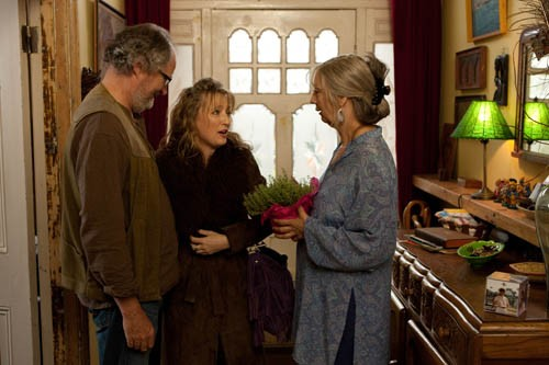 HIGH MAINTENANCE: Tom (Jim Broadbent) and Gerri (Ruth Sheen, right) exercise great patience when it comes to their friend Mary (Lesley Manville, center) in Another Year. (Photo: Sony Pictures Classics)
