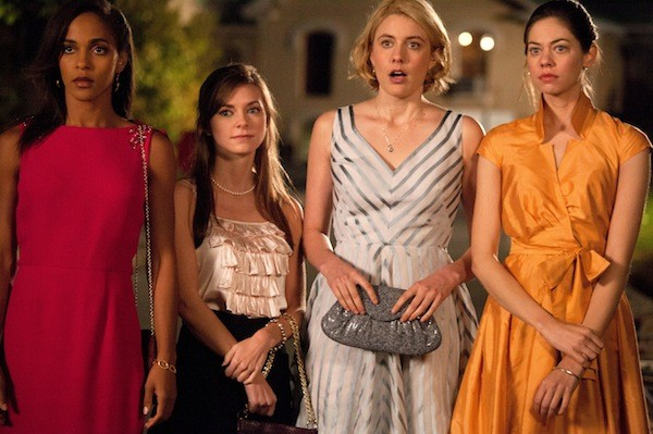 HIGHER EDUCATION: Megan Echikunwoke, Carrie MacLemore, Greta Gerwig and Analeigh Tipton in Damsels in Distress (Photo by Sony Pictures Classics)