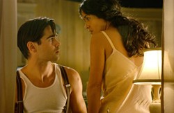 DAVID BLOOMER / PARAMOUNT CLASSICS - HOT IN THE CITY Colin Farrell and Salma Hayek sweat it out in LA in Ask the Dust.