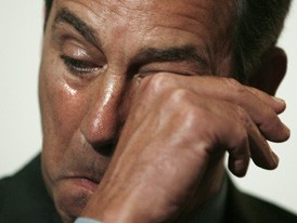 "House Speaker John Boehner weeps: ""Why can't Obama be more like Sarkozy?"""