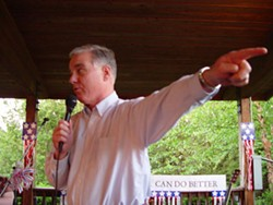 KAREN SHUGART - Howard Dean delivered his Democratic sermon last week in Renaissance Park