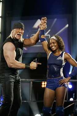 COURTESY NBC UNIVERSAL - HULK DOES A BODY GOOD: The tanned Mr. Hogan, with a winner.