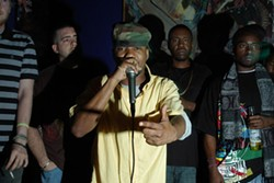 ERIC BRAYMAN - Ike Turnah performs at Monday Night Mic Fights.