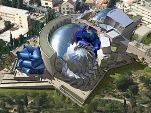 Illustration of Museum of Tolerance in Jerusalem, being sensitively built on top of a former Muslim graveyard