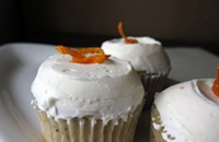Earl Grey cupcakes with citrus Swiss meringue buttercream