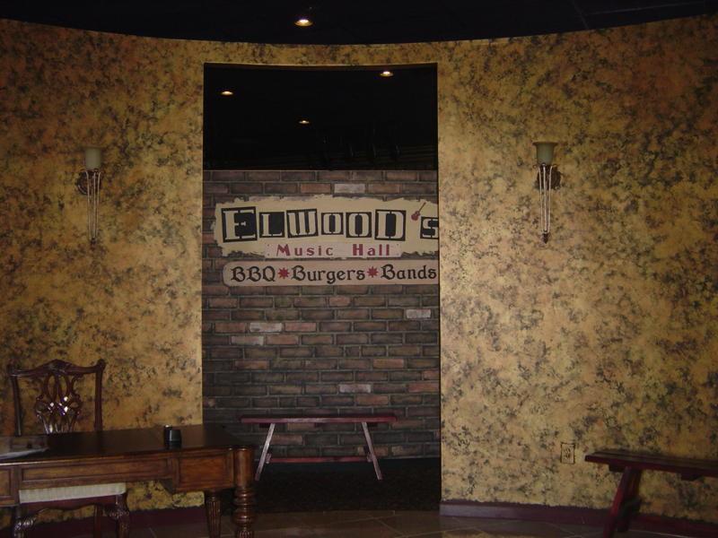 Inside original entrance