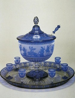 CORNING MUSEUM OF GLASS: BACCARAT PUNCHBOWL & TRAY