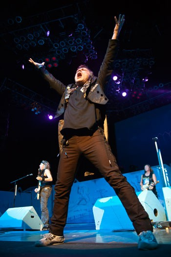Iron Maiden made a long-awaited return to Charlotte on June 21, 2012, kicking off its tour at Verizon Wireless Amphitheatre.