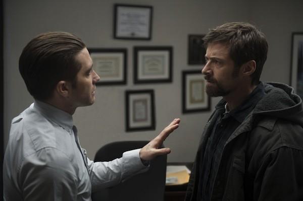 Jake Gyllenhaal and Hugh Jackman in Prisoners (Photo: Warner Bros.)