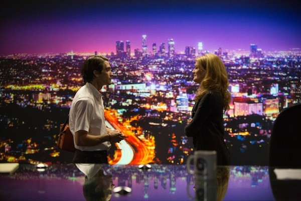 Jake Gyllenhaal and Rene Russo in Nightcrawler (Photo: Universal & Open Road Films)
