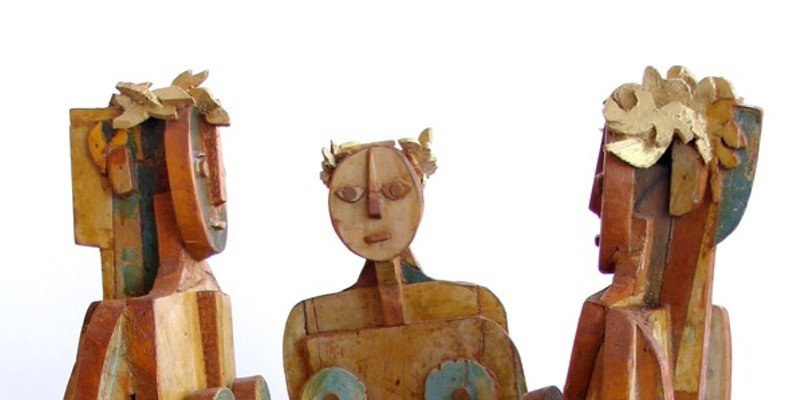 """James Clark, """"Three Graces."""" Images courtesy of the artist/Center of the Earth Gallery."""