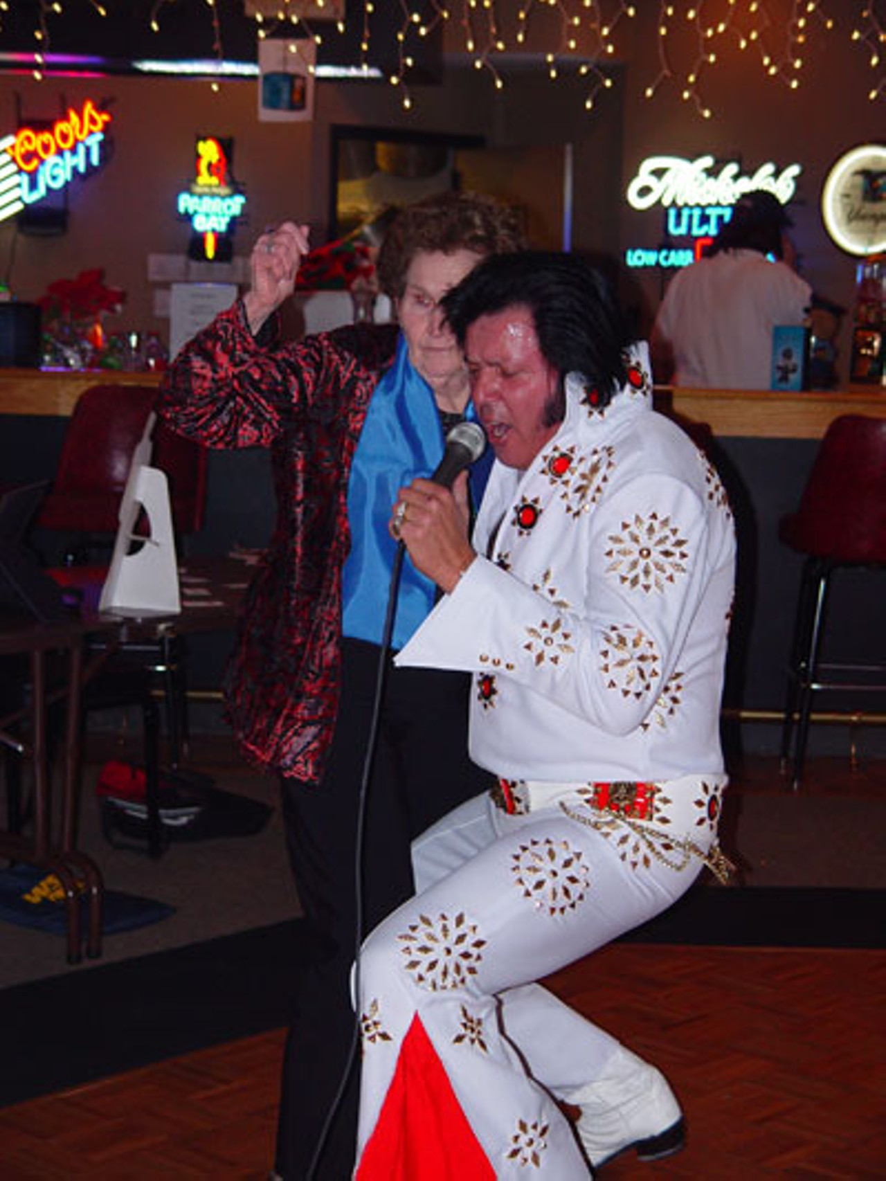 click to enlarge JARED NEUMARK - James Haas Elvis with Wild Woman.  sc 1 st  Creative Loafing Charlotte & Elvis is Everywhere | Urban Explorer | Creative Loafing Charlotte