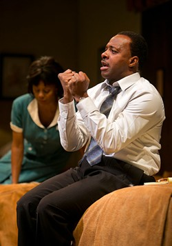TIM FULLER/ARIZONA THEATRE COMPANY - James T. Alfred as Dr. Martin Luther King Jr. in The Mountaintop