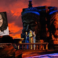 Janinah Burnett (inset) visits Charlotte for a production of The Pearl Fishers.