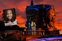 OPERA CAROLINA - Janinah Burnett (inset) visits Charlotte for a production of The Pearl Fishers.