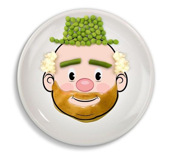 Jason Amendolara. American, 1972- FRED and Friends. Cumberland, Rhode Island, 2004- Food Face Dinner Plate designed 2009 Ceramic, glaze Gift of Jason Amendolara. 2012.44.1