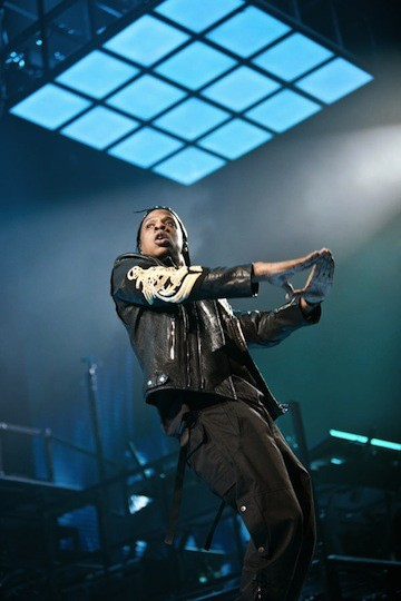 Jay Z at Time Warner Cable Arena on Jan. 4.